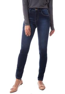 Calça Jeans Feminina Pitt Skinny Azul - 36