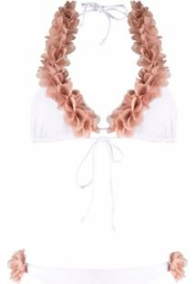 La Reveche Floral String Bikini - Branco