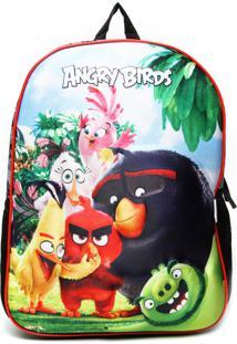 Mochila Santino 3D Angry Birds Azul/Verde/Vermelha