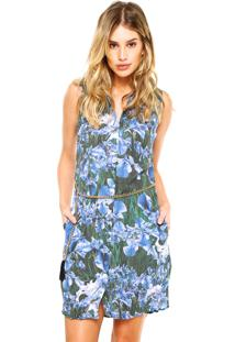 c0a0fda70 ... Vestido Midi Carmim Chemise Marcia Print Azul