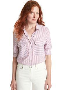 Camisa Gap Listrada Vinho/Branca