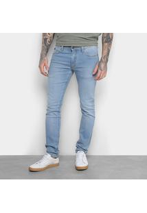 Calça Jeans Skinny Reserva Lavagem Clara Masculina - Masculino-Azul