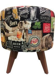 Puff Pã© Palito Redondo Alce Couch Bali Beer Cerveja 40Cm Marrom - Marrom - Dafiti