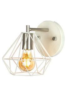 Arandela Luminária Diamante Aramado Branco