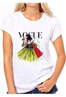 Camiseta Coolest Vogue Feminina - Feminino-Branco