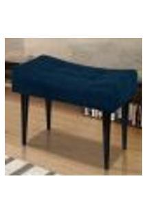 Banqueta Retangular Baixa Decor Azul