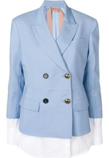 Nº21 Jacket With Blouse Details - Azul