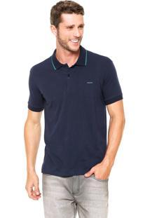 Camisa Polo Sommer Reta Comfort Azul