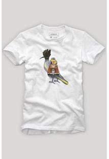 Camiseta Reserva Pica Pau Carro De Viagem Masculina - Masculino-Branco