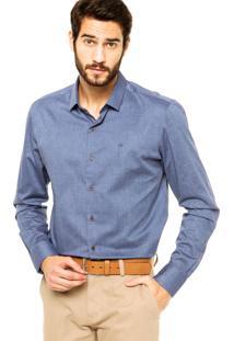 Camisa Calvin Klein Jeans Slim Azul