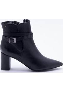 Ankle Boot Couro Preta Dumond 34