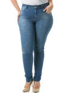 53672ef3e R$ 139,90. Zattini Calça Confidencial Extra Plus Size Jeans Tradicional Duo  Feminina - Feminino-Azul