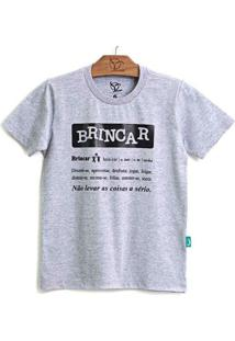Camiseta Jokenpô Pai Brincar - Masculino-Cinza