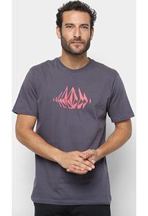 Camiseta Volcom Silk Stone Sounds Masculina - Masculino
