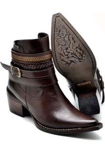 060fb61ac ... Bota Top Franca Shoes Country Bico Fino Feminina - Feminino-Café
