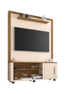 Estante Home Theater Para Tv Até 55 Pol. Smart Off White/Cinamomo - Be