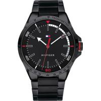 b64f938553c Relógio Tommy Hilfiger Masculino Aço Preto - 1791525