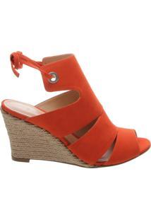 Sandália Anabela Power Nobuck Orange | Schutz