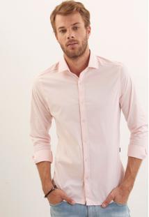 Camisa John John Slim Rose Rosa Masculina Camisa Slim Rose-Rosa Claro-G