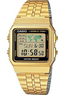 7764a92106622 R  399,99. Zattini Relógio Feminino Dourado Inox Vidro Casio ...