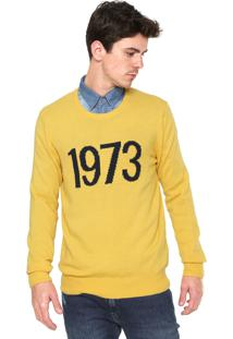 Suéter Timberland Tricot Know Intarsia Crew Amarelo