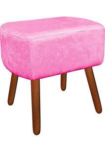 Puff Decorativo Curvo Agatha Suede Rosa Barbie - D'Rossi