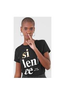 Camiseta Fiveblu Silence Preta