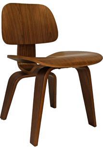 Cadeira Moderna A-027-Marka Móveis - Nogueira