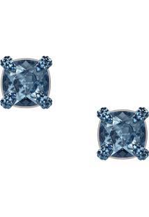 Brinco Azul Swarovski feminino   Gostei e agora  875c5983a0