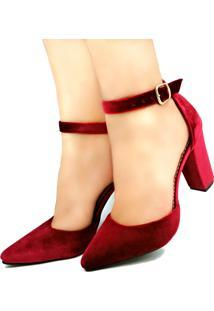 Scarpin Bellatotti Dolce Rosso Vermelho