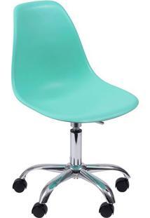 Cadeira Eames Com RodãZio- Verde ÁGua- 93X47X41Cm