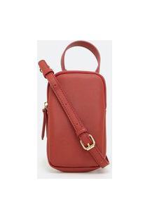 Bolsa Pequena Com Duas Alças | Satinato | Vermelho | U