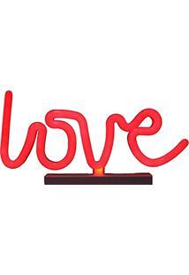 Luminária Abajur Led Love Colorida Decoração Festa Abajur