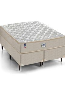 Cama Box Queen Aspen Completo D28 Conforto Firme 158X198Cm - Bege - Dafiti