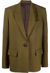 The Attico Blazer Oversized Com Abotoamento Simples - Verde