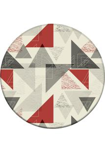 Tapete Love Decor Redondo Wevans Triangulo Geomã©Tricos Off 84Cm - Off-White - Dafiti