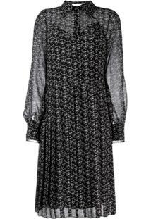 See By Chloé Printed Shirt Dress - Preto