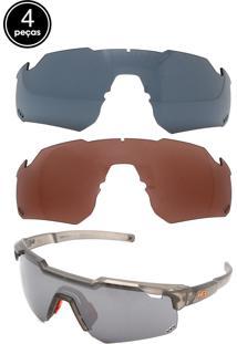 Kit 4 Pçs Óculos De Sol Hb Shield Preto
