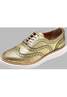 Sapato Oxford Dexshoes Dourado - Kanui