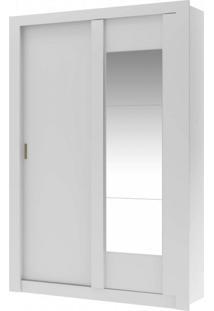 Guarda Roupa Solteiro Com Espelho 2 Portas De Correr Elus Carraro Flex Color Branco/Native