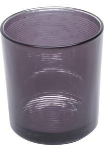Castiçal Metalic Colors- Incolor & Prateado- 8Xø8Cm