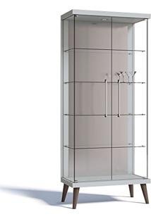 Cristaleira Tifanny 02 Portas De Vidro Branco Acetinado - Imcal