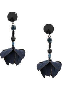 Marni Leaf Drop Earrings - Azul
