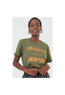 Camiseta Colcci Mulheres Verde
