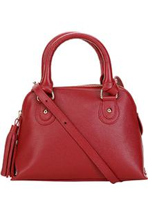 Bolsa Couro Shoestock Mini Handbag Feminina - Feminino-Vermelho