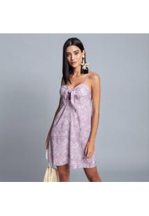 Vestido Tecido Rayon Bali Rendas - Lez A Lez