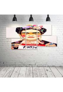 Quadro Decorativo - My-Name-Is-Frida - Composto De 5 Quadros - Multicolorido - Dafiti