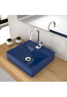 Cuba De Apoio Para Banheiro Compace Ravena Q39W Quadrada Azul