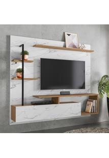 Painel Home P/ Tv Até 58 Pol Colibri Maragogi Calacatta/Natura Real