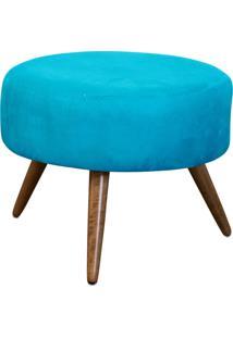 Puff Lymdecor Decorativo Angel Suede50X25X50 Azul